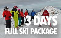 3 days full ski package