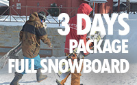 3 days full snowboard package